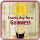Guinness Smiling Pint / Sun cork backed drinks coaster  100mm x 100mm (sg)